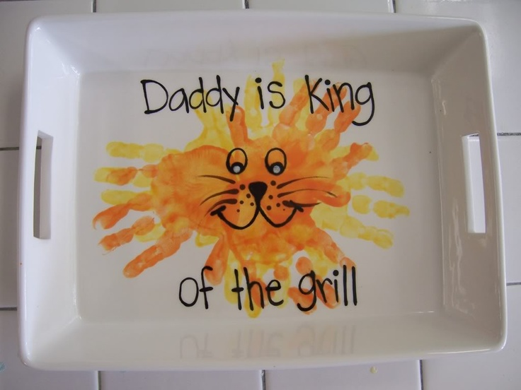 "Handprint ""King Of The Grill"" Dish"