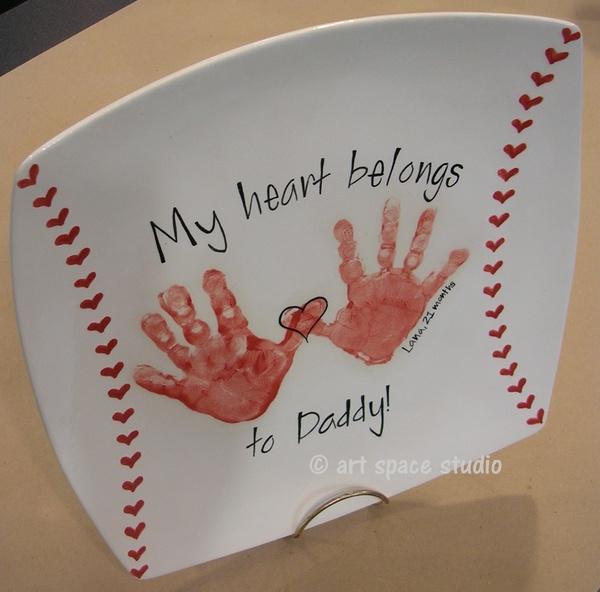 Handprint Baseball Plate