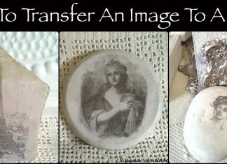 transfer an image to a rock