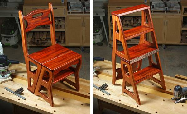 How To Build A Fold Over Library Chair Ladder Chair