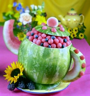 How to Carve a Watermelon Tea Pot
