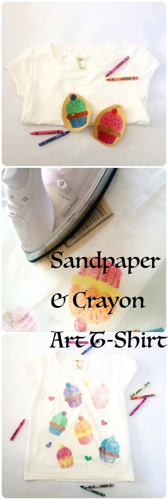 How to Make an Iron on Sandpaper Art T-Shirt