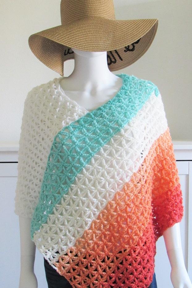 Kalisha Poncho Free Crochet Pattern
