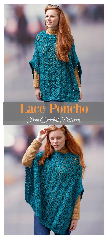 Lace Poncho Free Crochet Pattern Cool Creativities