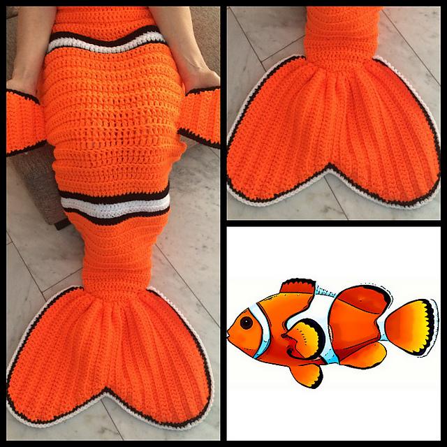 Crochet Nemo Snugglesack Pattern
