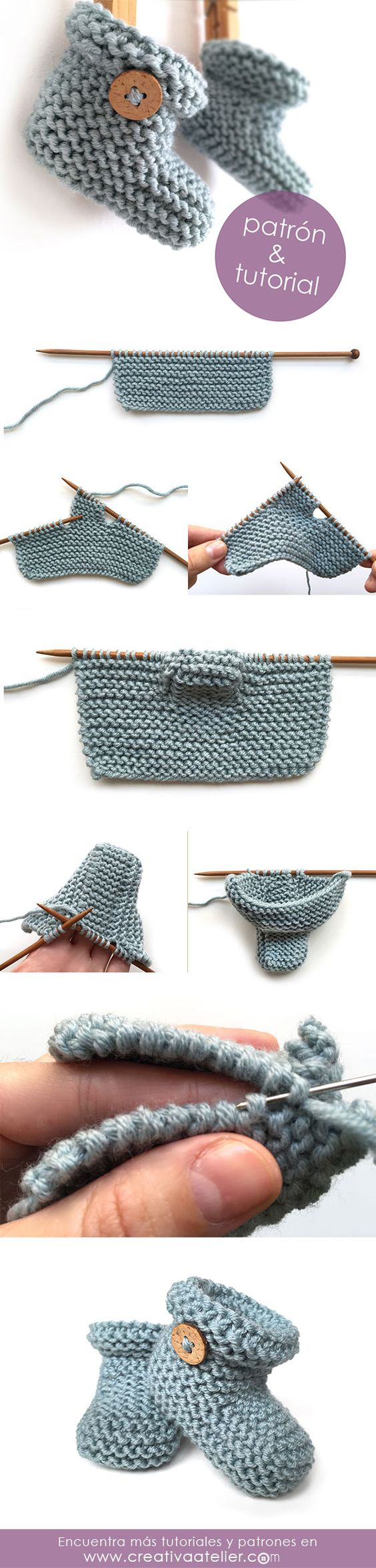 Epipa Knitting Pattern Baby Booties : 40 + Knit Baby Booties with Pattern - Page 3 of 5