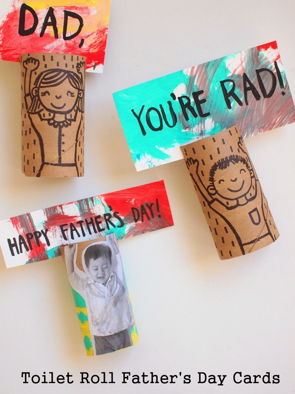 Toilet Paper Roll Father's Day Greeting Cards