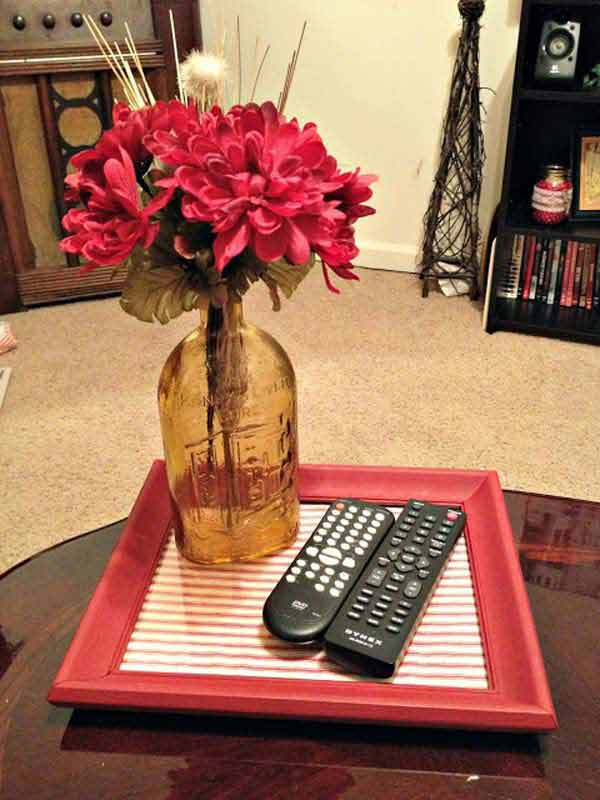 Useful DIY Coffee Table Tray Out of Picture Frame