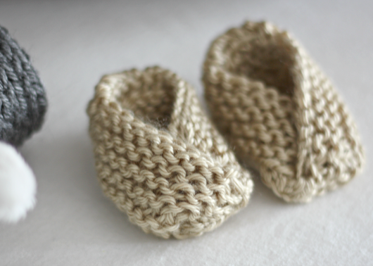 Diy Easy Knit Baby Booties With Free Pattern Cool Creativities