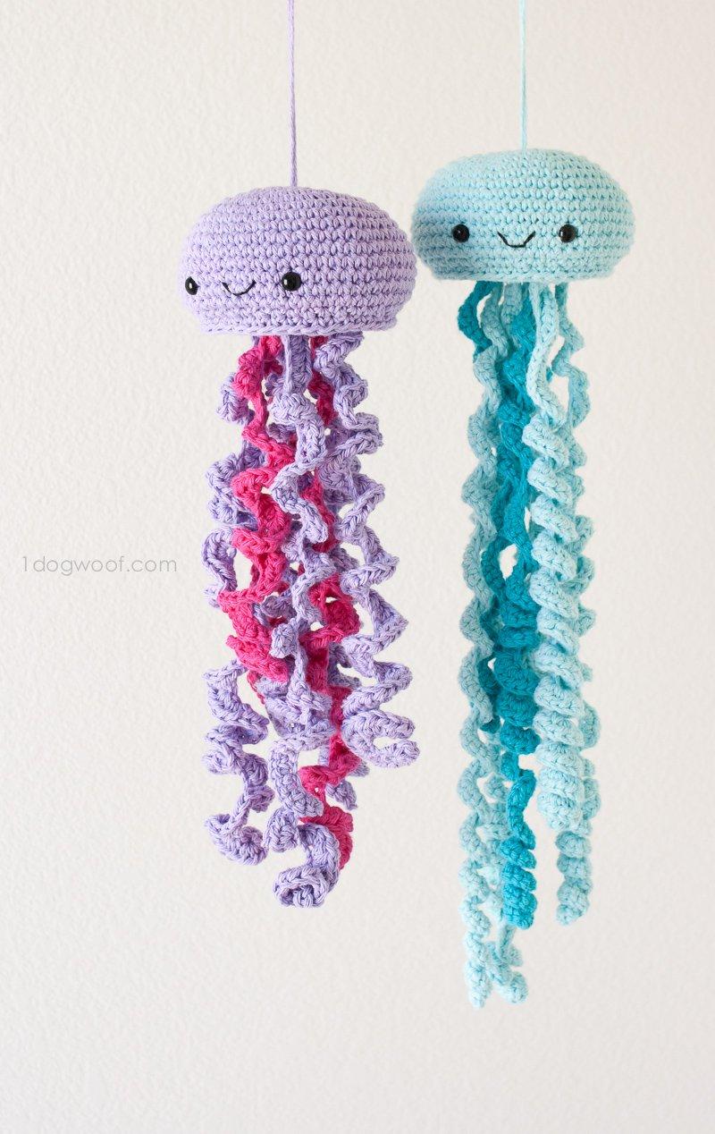 Knitting Pattern For Jellyfish : Crochet Amigurumi Jellyfish with Free Pattern