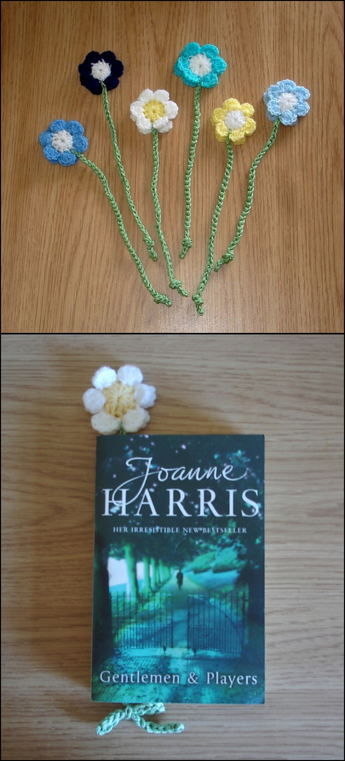 cute crochet flower bookmark