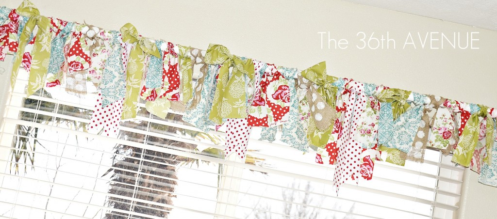 No Sew Fabric Scrap Window Valance