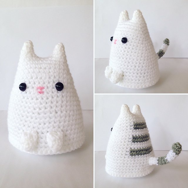 Crochet Adorable Dumpling Kitty with Free Pattern (Video ...