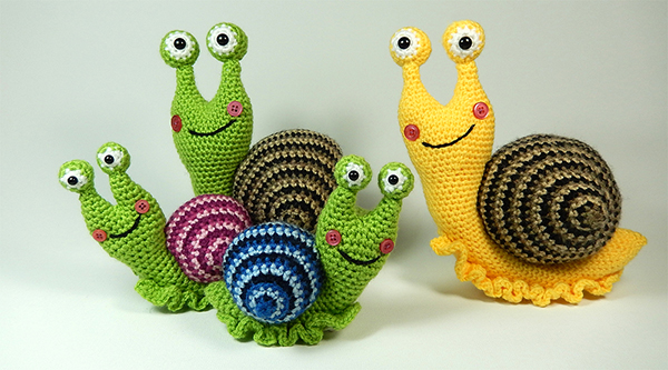Crochet Amigurumi Snail Patterns