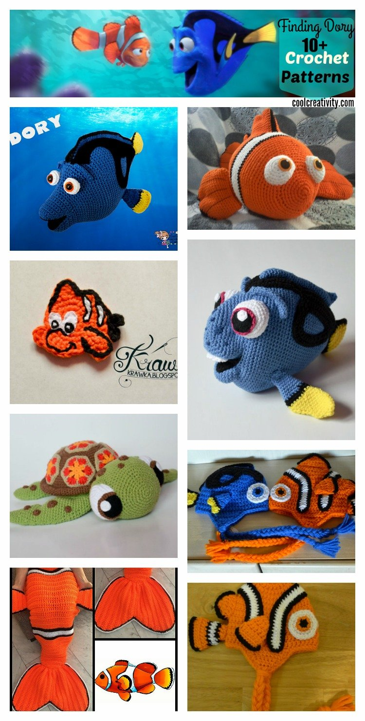 Finding Nemo - free crochet pattern (Free Amigurumi Patterns ... | 1481x750