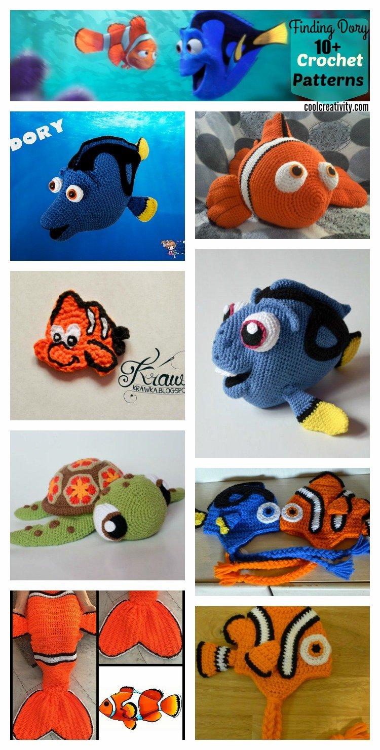 10+ Finding Dory Crochet /Knitting Patterns