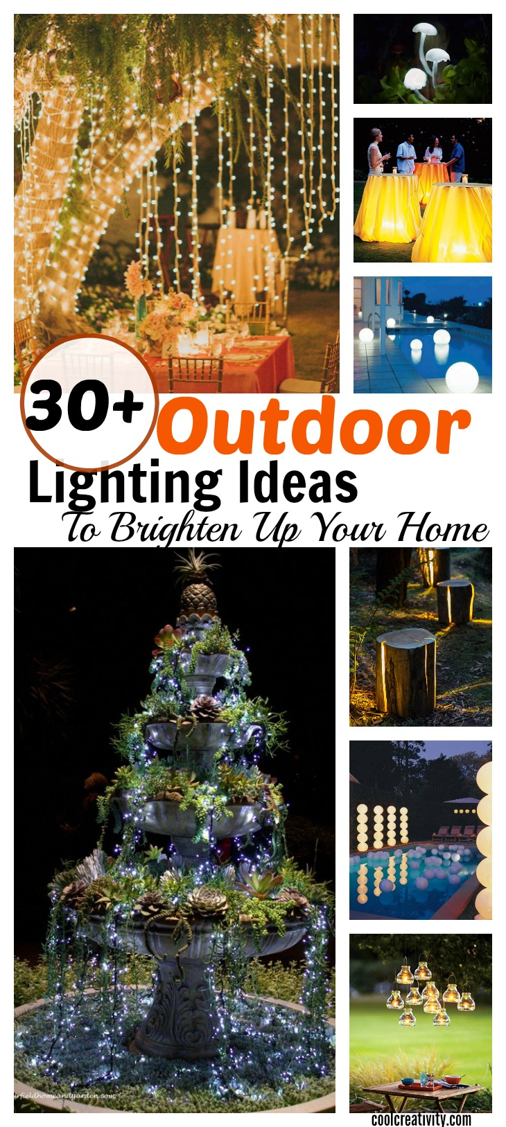 30 Cool Ideas And Pictures Of Bathroom Tile Art: 30+ Cool DIY Outdoor Lighting Ideas To Brighten Up Your
