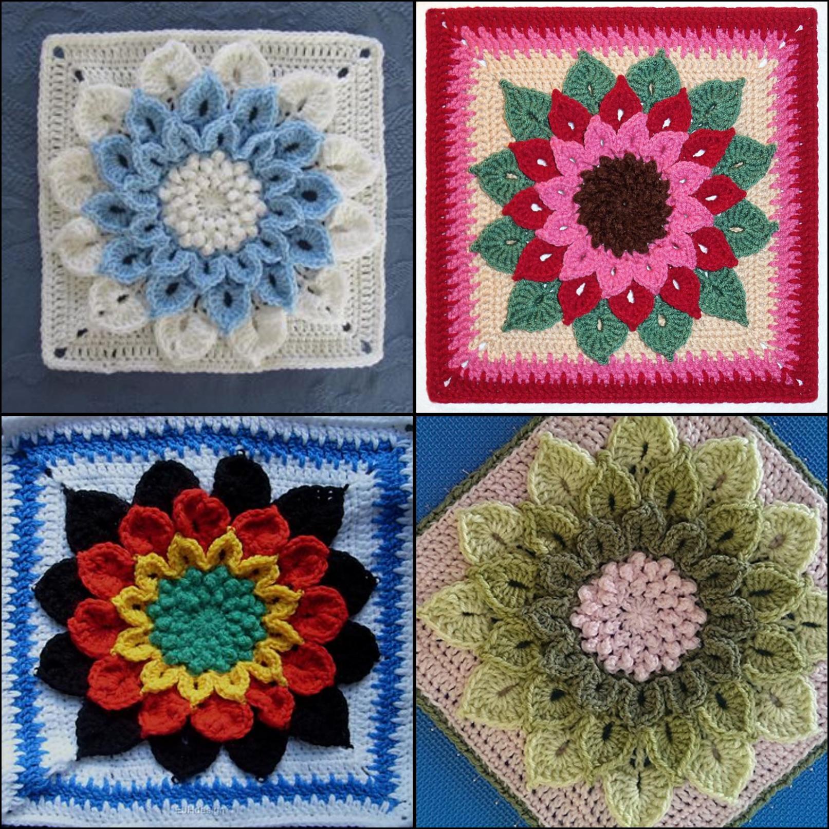 Crochet Patterns Block Afghan : Crocodile Stitch Afghan Block Crochet Pattern