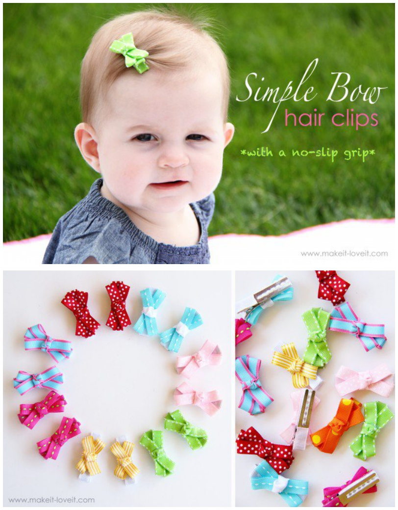 Simple Bow Hair Clips with a No-Slip Grip