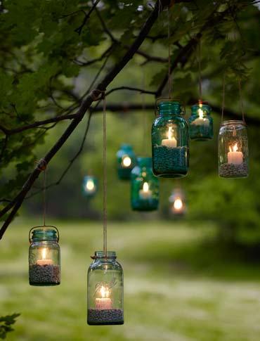 recycled-glass tea light lanterns cool creativity