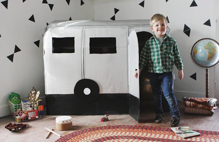 30+ Fun Ways To Repurpose Cardboard For Kids---Playhouse Camper