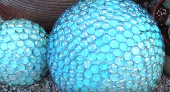 DIY Faux Gazing Ball Garden Decor Impressive Stone Ball Garden Decoration