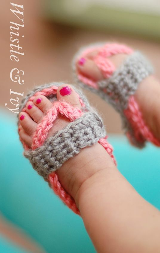 5be043c34 Crochet Baby Strap Flip Flop Sandals with FREE Pattern