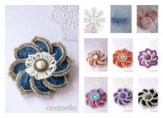 Crochet Brooch Pattern