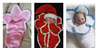 Crochet Flower Baby Cocoons Are Adorable