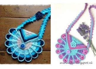 Crochet Peacock Bag Free Pattern and Tutorial
