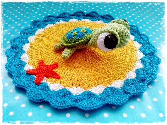 Crochet Turtle Lovey Pattern