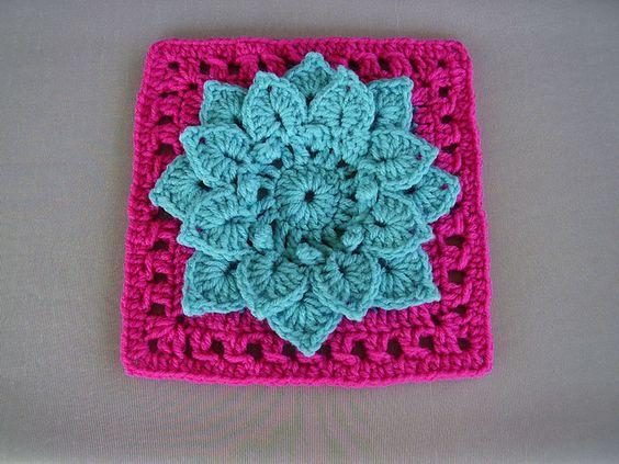 Crocodile Stitch Afghan Block Crochet Pattern