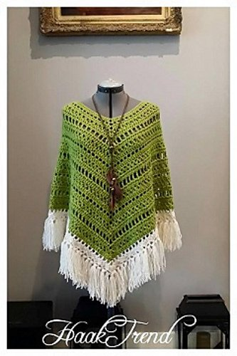 Bohemian Poncho Free Crochet Pattern : 10 + Summer Poncho Free Crochet Patterns