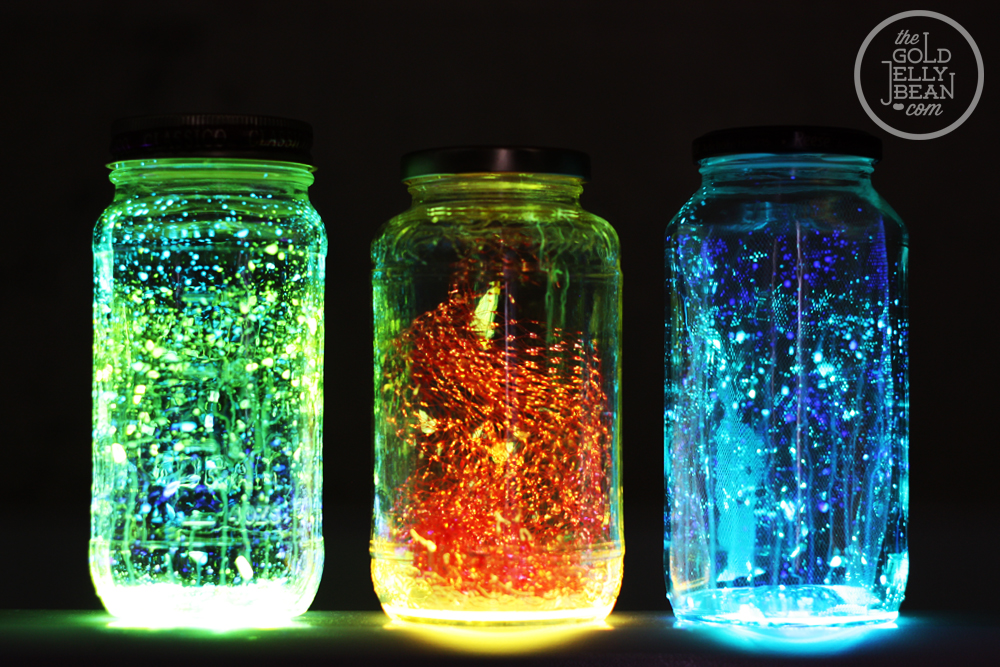 DIY Glow Jars cool creativity