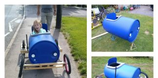 DIY Plastic Barrel Derby Car