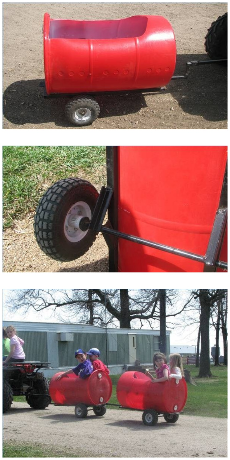 DIY Plastic Barrel Train