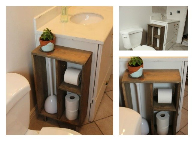 Diy Side Vanity Storage Unit To Hide Unsightly Toilet Items