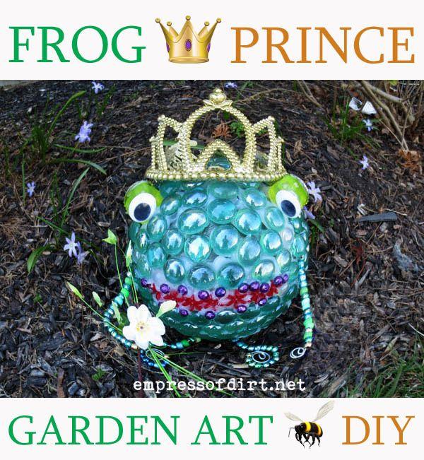 Frog Prince Garden Art Ball