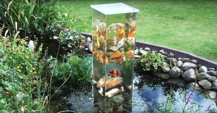 upside down fish aquarium tank pond