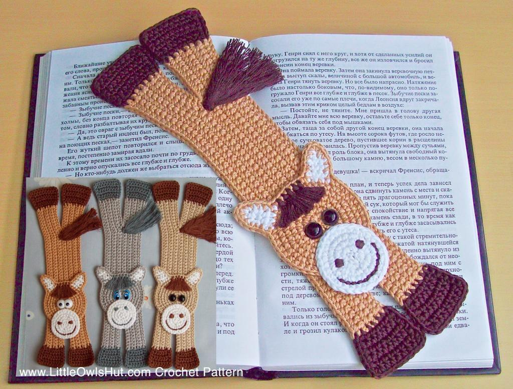 20 crochet bookmark patterns for every skill level page 2 of 2 horse bookmark amigurumi zabelina crochet pattern bankloansurffo Gallery