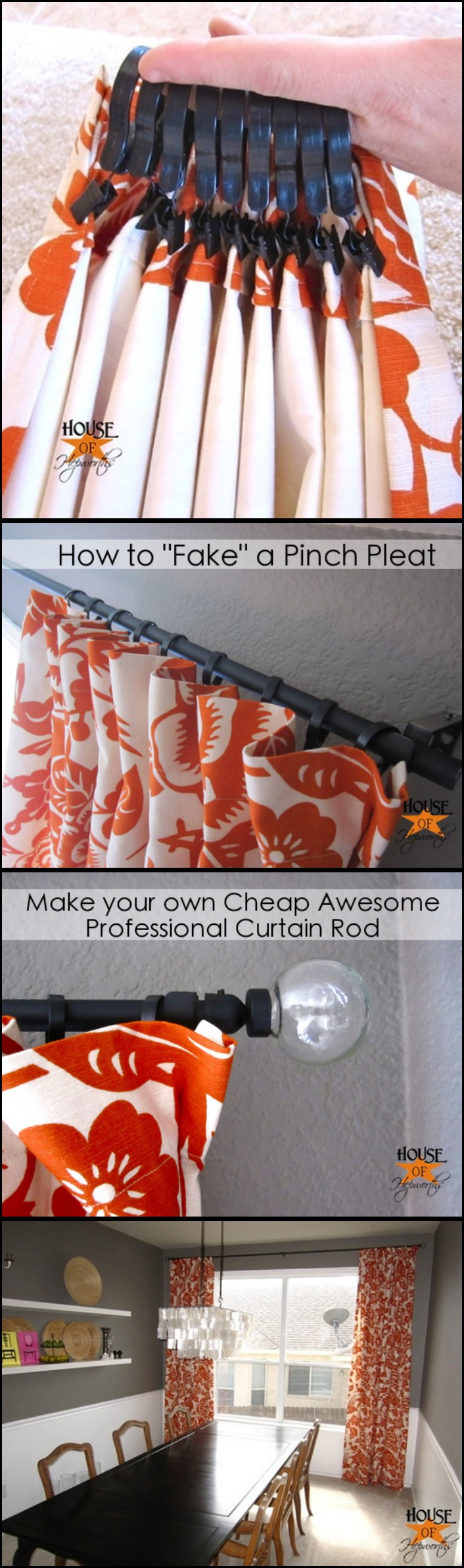 How to Make Cheap, Awesome, Professional Curtain Rod with PVC Pipe