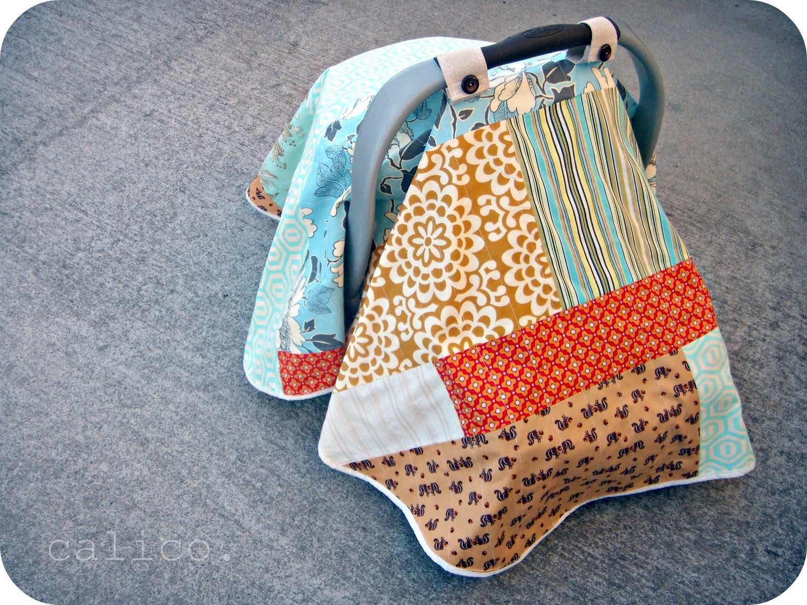Infant Carseat Blanket Tutorial