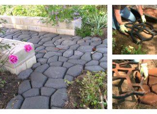 DIY Concrete Walkway