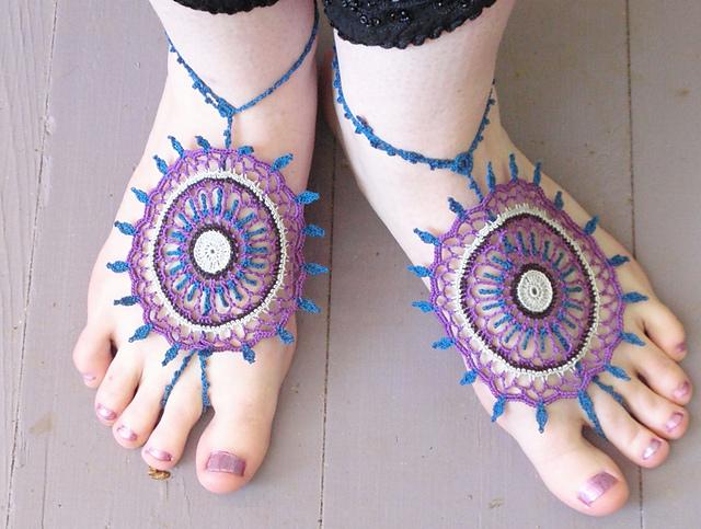 Mehndi Inspired Barefoot Sandal Crochet Pattern Cool Creativities