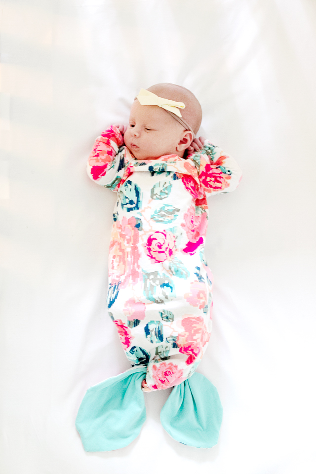 Mermaid Baby Gown Tutorial
