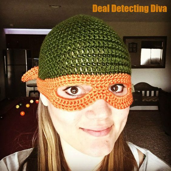 Ninja Turtle Childs Beanie With Mask FREE Crochet Pattern