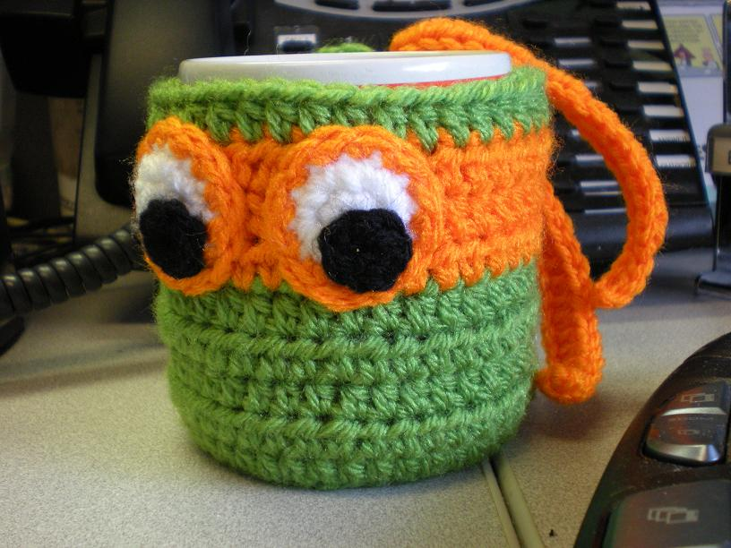Ninja Turtle Coffee Mug Cozy Crochet Free Pattern Cool Creativities
