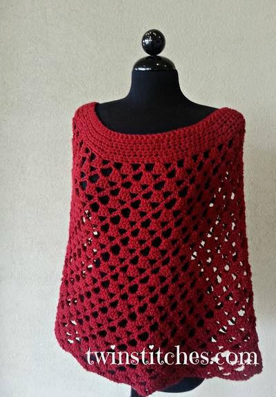 Scarlett Spiral Crochet Poncho FREE Pattern