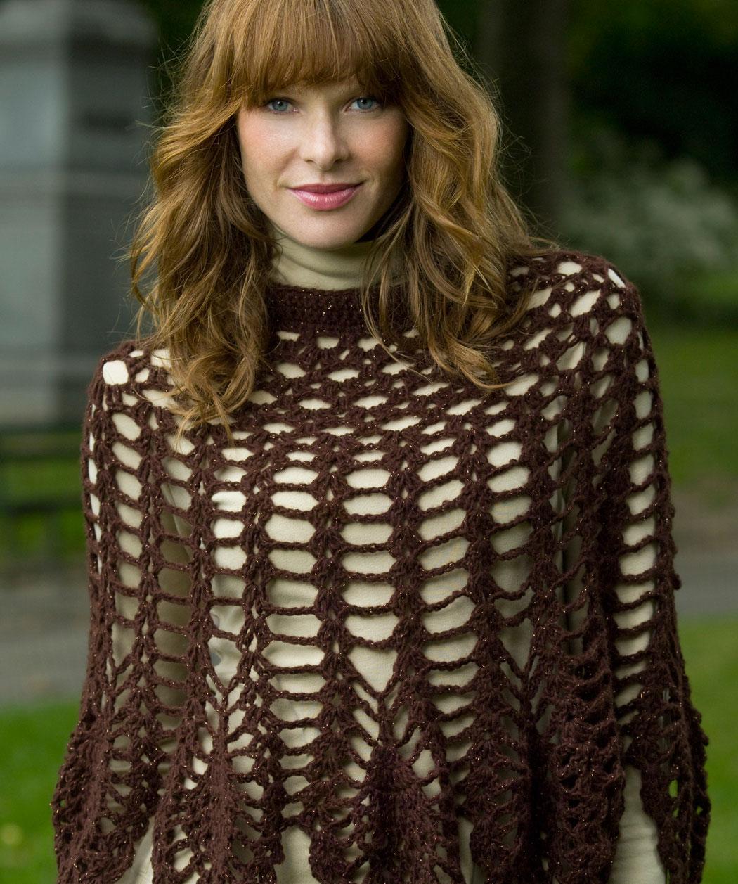 Shimmer Poncho Crochet Free Pattern