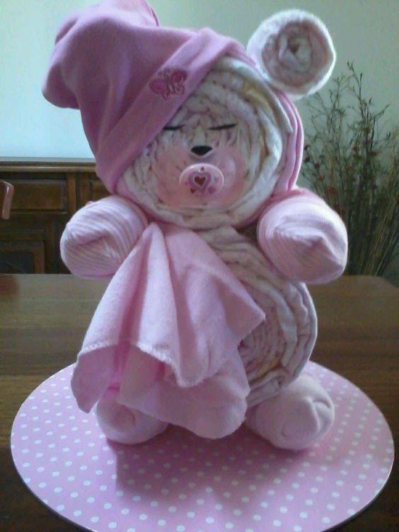 Diy Teddy Bear Diaper Cake